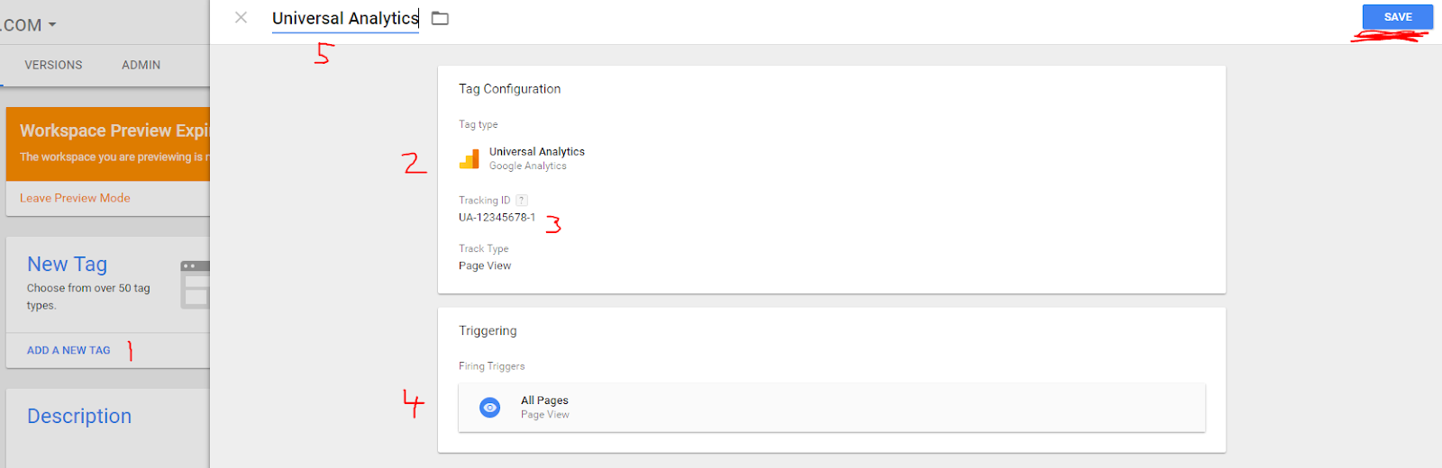 Screenshot of Google Tag Manager tag configuration window