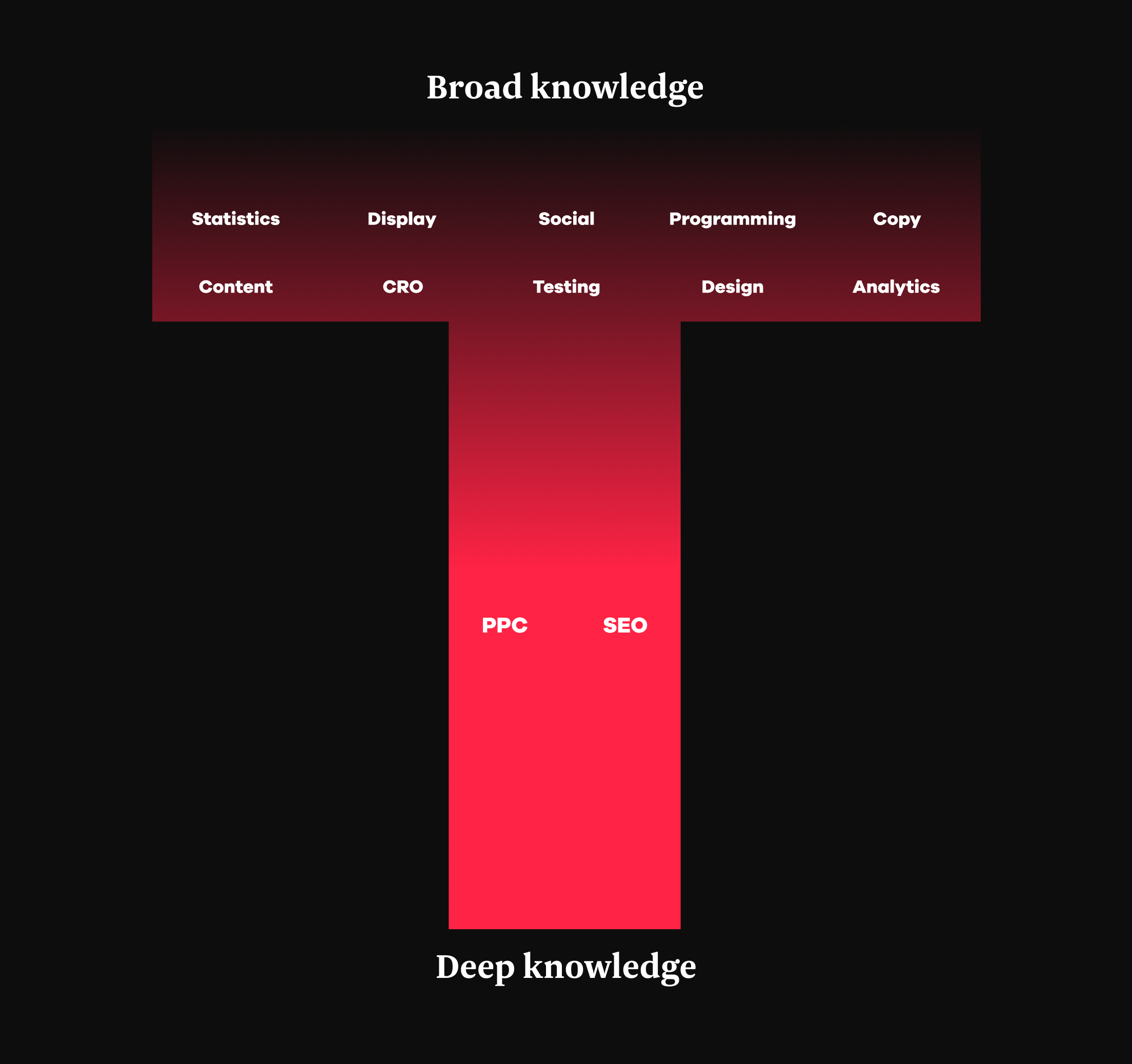 The T-shape knowledge